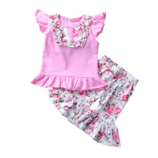Toddler Kids Baby Girls T-shirt Tops+Pants Dress Summer Outfits Clothes 2PCS Set