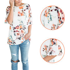 New Casual Women O-Neck Printed Floral Summer Short Sleeve T-Shirts