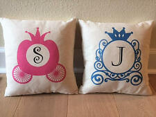 Cinderella Carriage Monogram Pillow free customization 12x12 pillow girls room