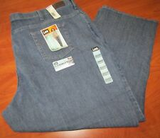 NEW LEE WOMENS RELAXED FIT STRAIGHT LEG BLUE JEANS 28WP