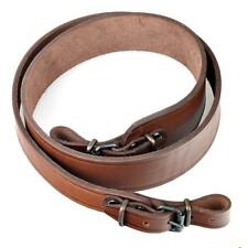Genuine Leather Rifle Shotgun Strap Gun Sling Hunting Brown Shoulder Shooting