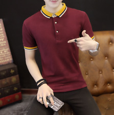 Blouse Solid Color Stylish Men's POLO Shirt  Short Sleeve Casual T-shirts Tops