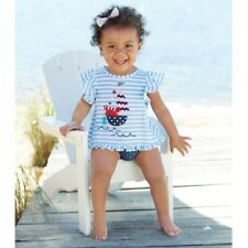 Mud Pie E8 Sail Away Baby Girl Sailboat Pinafore & Bloomer Set 1112395 Choose