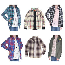 Tractr 2 Piece Layering Shirt Set for Girls - Long Sleeve - Button Down