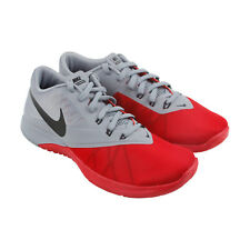 Nike Fs Lite Trainer 4 Mens Red Mesh Athletic Lace Up Training Shoes