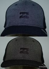BILLABONG CAP HAT NEW MENS  BLOCKER STRETCH FLEX Black Heather Navy Heather Logo