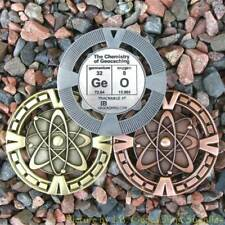 "GeO - Chemistry of Geocaching Geomedal Geocoin (2.5"", Cutouts, Antique Finish)"
