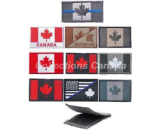 """Canadian Flag Military Moral Armband Patch (approx 2"""" X 3 1/4"""") Hook & Loop"""