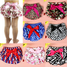 Summer Toddler Baby Kids Girl Bowk Ruffle Bloomer Nappy Underwear Panty Diaper