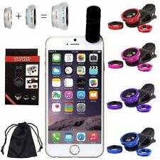 Wide Angle 180° Fish Eye Macro Clip Camera Lens For iPhone Samsung Cell Phone