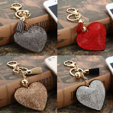 Be Charm Rhinestone Heart Crystal Handbag Pendant Keychain Bag Keyring Key Chain
