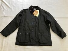 Barbour Beaufort Boys Jacket, NWT, Olive, Multiple Sizes, FREE SHIPPING
