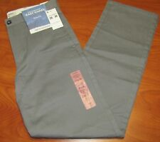 NEW DOCKERS MENS THE CLEAN KHAKI SLIM FIT GREY PANTS MULTIPLE SIZES AVAILABLE
