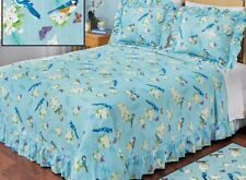 Floral Bird Bedding Set Pillow Shams Quilted Bedspread Twin Full Queen King Rugs