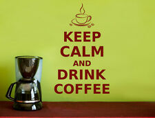 Keep calm and drink coffee quote wall sticker | Coffee quote wall decal