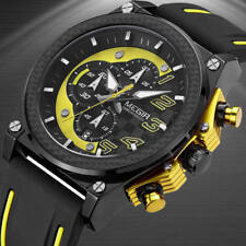 MEGIR Men Watches Analog Quartz Wristwatch Waterproof Chronograph Auto Date