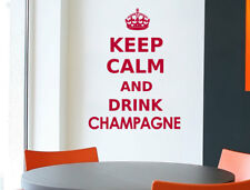 Keep calm and drink Champagne wall quote sticker | Keep Calm Wall Decal Quote