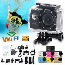 WiFi 2'' HD 4K Action Sports Camera Waterpoof Helmet DV Dash Cam Video Camcorder