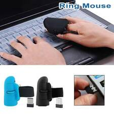 Mini 2.4GHz 1600DPI Finger Mouse Wireless USB Optical Ring Mice For Laptop PC
