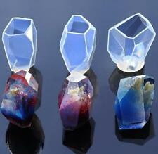 New Silicone DIY Crystal Gem Mold Resin Jewelry Pendant Craft Making Mold Tool