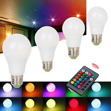 RGBW LED Light Bulb Remote Dimmable E27 3W 6W 8W 10W 12W Color Changing Lamp