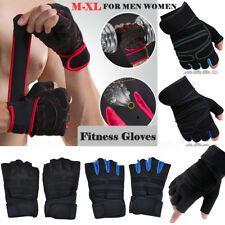 Men Womens Fitness Gym Half Finger Gloves Weight Lifting Training Sport Fit M-XL