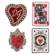 Embroidered Sew On Clothes Patches Poker Flower Applique Badge Patch Trims