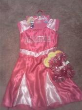 BARBIE PINK CHEERLEADER COSTUME DRESS WITH POM-POMS (SIZE 4-6X)