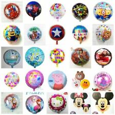 """18"""" HAPPY BIRTHDAY & CHARACTERS ROUND FOIL BALLOONS FOR BIRTHDAYS CHILD PARTY"""