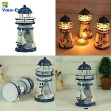Candle Holder Lantern Lighthouse Vintage Iron Candlestick Stand Decorations Home