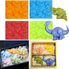 Dinosaurs Shaped Silicone Cake Baking Tools  Non-Stick Tray Soap DIY Mould Mold