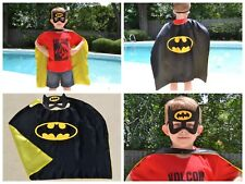 Batman Birthday Party Favors, Superhero Mask, Cape can Personalize Name