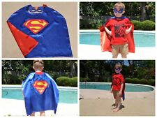 Superman Kids Birthday Party Favors, Superhero Mask, Cape can Personalize Name
