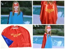 Wonder Woman Kids Birthday Party Favors Superhero Mask Cape can Personalize Name