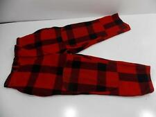 NICE VINTAGE 1940'S-50'S WOOLRICH WOOL HUNTING PANTS BLACK RED CHECKER SIZE 34