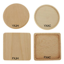 Cup Mat Wooden Tea Placemat Heat Insulation Coaster Pad Table Decor New