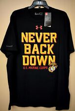 Under Armour United States Marine Corps Semper Fi USMC Black Men's T Shirt Tee