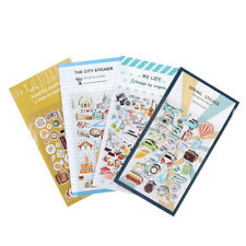 2x Vintage Travel Food DIY Decoration PVC Stickers For Diary Scrapbooking Gif Sc