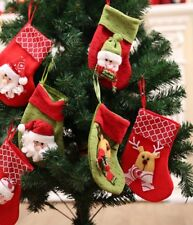 Christmas Colorful Cute Party Hanging Stockings Xmas Candy Gift Bags Decorations