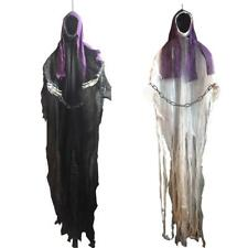 Hanging Black Face Ghost Halloween Decorations Haunted House Escape Horror Props
