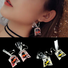 Goldfish Water Bag Shape Dangle Hook Earrings Charm Women Jewelry Gift Cute US