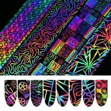 Nails Holographic Foil Laser Starry Nail Art Decor Deacals Transfer Sticker 8pc