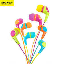 Awei Q6I In-ear Earphone 3.5mm Jack Wired Headset Candy Sport Headphone with MIC