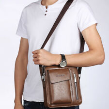 Men's Genuine Leather Messenger Satchel Bags Cross body Handbag Shoulder Bag
