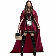 sexy red riding hood costumes cape cosplay Fantasia Party adults halloween