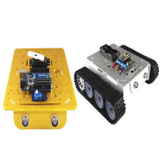 Metal Robotic Tracked Tank Car Chassis 9V Motor LED light for Arduino UNO R3
