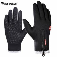 WEST BIKING Winter Cycling Bicycle Gloves Touch Screen Warm Windproof Thermal