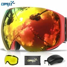 COPOZZ Magnetic Ski Goggles with Quick-change Lens and Case Set 100% UV400