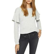 Sanctuary Womens Dominique Metallic French Terry Sweatshirt Heather Sterling $79