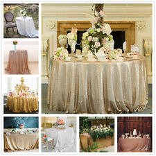 Sparkly Sequin Tablecloth Wedding Round Rectangle Table Cloth Banquet Party
